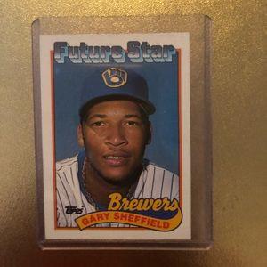 #343 TOPPS Barry Sheffield Baseball Card